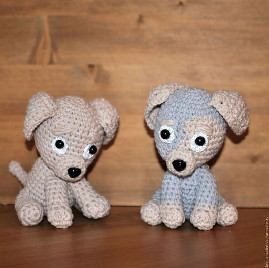 """Игрушки животные, ручной работы. Ярмарка Мастеров - ручная работа. Купить Вязаная игрушка """"Грустный щенок"""". Handmade. Вязаная игрушка"""