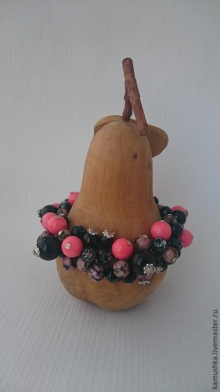 """Браслеты ручной работы. Ярмарка Мастеров - ручная работа. Купить браслет """"Беспечность"""". Handmade. Разноцветный, розовый, коралл прессованный"""
