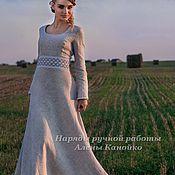 Одежда ручной работы. Ярмарка Мастеров - ручная работа Льняное платье Мирослава. Handmade.