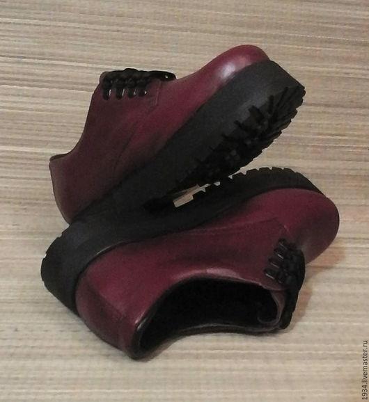 Обувь ручной работы. Ярмарка Мастеров - ручная работа. Купить Ботинки женские RED - N. Handmade. Бордовый