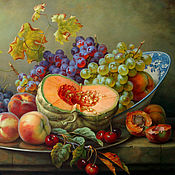 "Картины и панно handmade. Livemaster - original item The painting "" Still life with pumpkin "". Handmade."