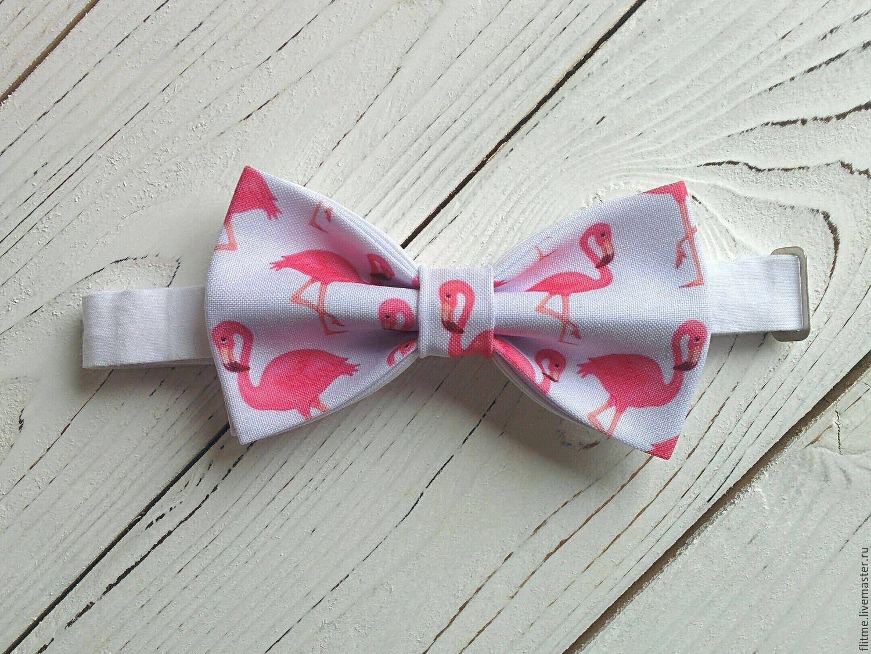 Галстуки, бабочки ручной работы. Ярмарка Мастеров - ручная работа. Купить галстук бабочка белый. Handmade. Бабочка с принтом фламинго. Бабочка на свадьбу. Бабочка на выпускной.