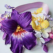 Украшения ручной работы. Ярмарка Мастеров - ручная работа Орхидеи из шелка. Цветы из шелка, шелковые цветы, орхидеи из ткани. Handmade.