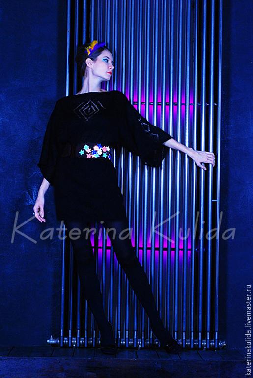 Платья ручной работы. Ярмарка Мастеров - ручная работа. Купить Платье-кимоно. Handmade. Черный, маленькое черное платье