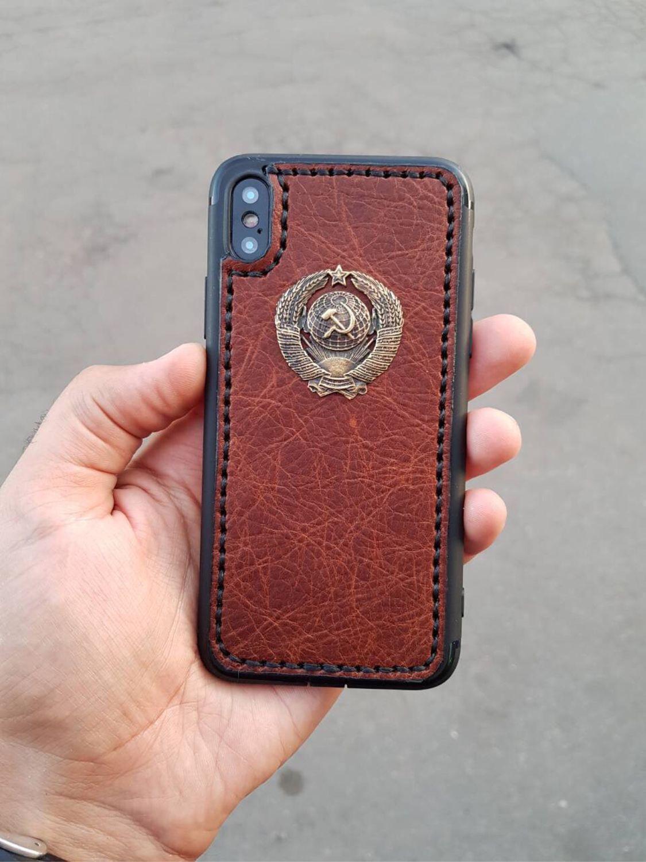 Кожаный чехол «СССР» мобильные устройства, Чехол, Мытищи,  Фото №1