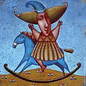 """Картины и панно ручной работы. Ярмарка Мастеров - ручная работа """"Весёлая лошадка"""", авторская печать.. Handmade."""