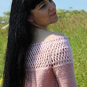 """Пуловеры ручной работы. Ярмарка Мастеров - ручная работа Авторская кофта """"Розовая лилия"""". Handmade."""