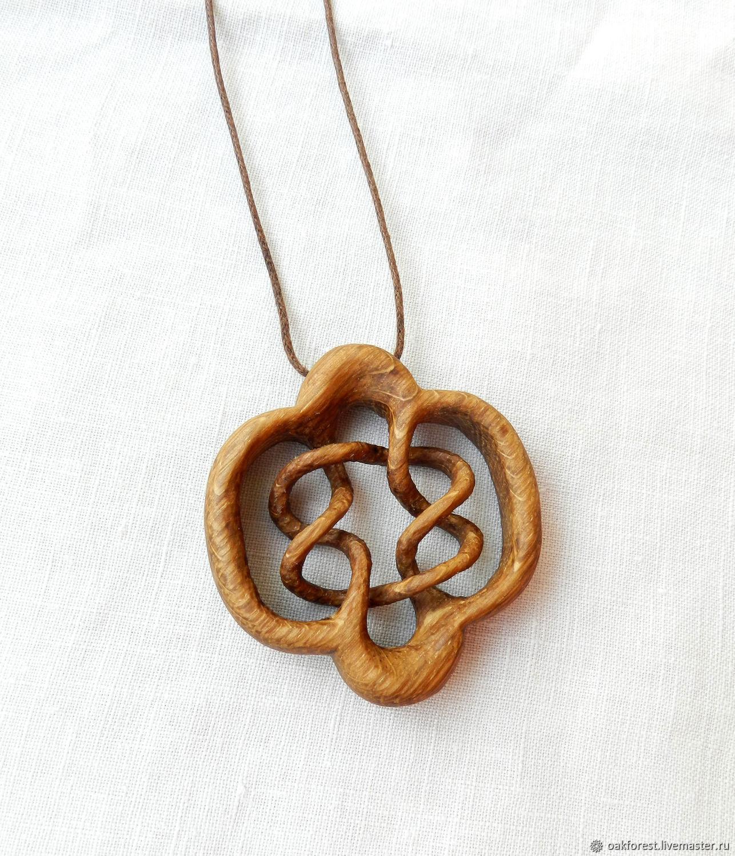Pendant-amulet made of wood 'Streams of infinity' (oak), Pendant, Domodedovo,  Фото №1