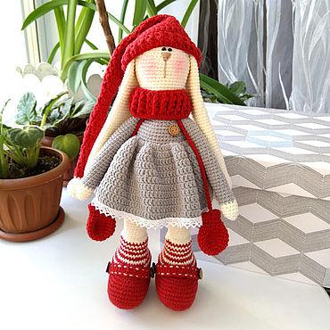 Куклы и игрушки ручной работы. Ярмарка Мастеров - ручная работа Заяц-Тильда в техники амигуруми. Handmade.