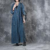Одежда handmade. Livemaster - original item V collar Long dress cowboy. Handmade.