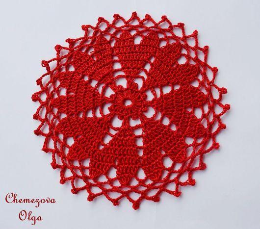 """Текстиль, ковры ручной работы. Ярмарка Мастеров - ручная работа. Купить Салфетка """"Сердешная"""" (набор из трех штук). Handmade."""