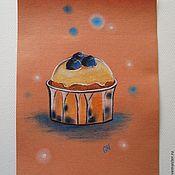 """Картины и панно ручной работы. Ярмарка Мастеров - ручная работа Картина пастелью  """"Черничный"""". Handmade."""