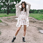 Одежда handmade. Livemaster - original item Bomber jacket: Women`s cotton bomber jacket in light natural bejer. Handmade.