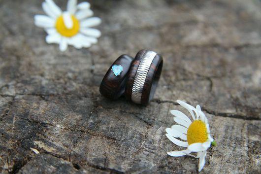Кольца ручной работы. Ярмарка Мастеров - ручная работа. Купить Деревянные кольца. Handmade. Подарок девушке, обрачальные кольца, якаранда