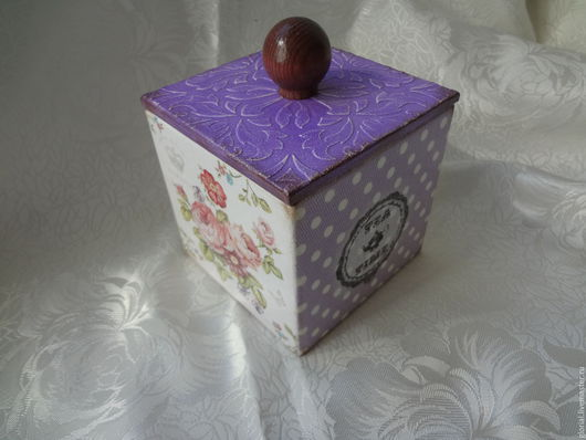 Кухня ручной работы. Ярмарка Мастеров - ручная работа. Купить Чайный короб Фиолетовое настроение. Handmade. Фиолетовый цвет, для чая