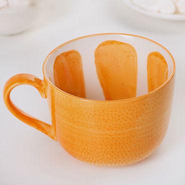 """Посуда ручной работы. Ярмарка Мастеров - ручная работа Кружка """"Апельсин"""". Handmade."""