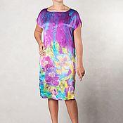 Одежда handmade. Livemaster - original item Batik silk dress