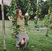"""Топы ручной работы. Ярмарка Мастеров - ручная работа Топ """"Зелёный чай"""". Жилет из шёлка и шерсти. Нунофелтинг.. Handmade."""