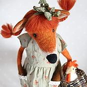 Куклы и игрушки ручной работы. Ярмарка Мастеров - ручная работа Лиска Алиска, лисичка-тедди, валяная из шерсти. Handmade.