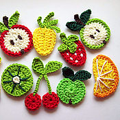 Работы для детей, ручной работы. Ярмарка Мастеров - ручная работа Фрукты-овощи крючком. Handmade.