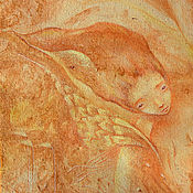 Картины и панно ручной работы. Ярмарка Мастеров - ручная работа Такое Настроение... Ветер-птица в волосах. Сказочная картина.. Handmade.