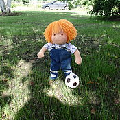 Куклы и игрушки ручной работы. Ярмарка Мастеров - ручная работа Матвей вальдорфская кукла мальчик. Handmade.