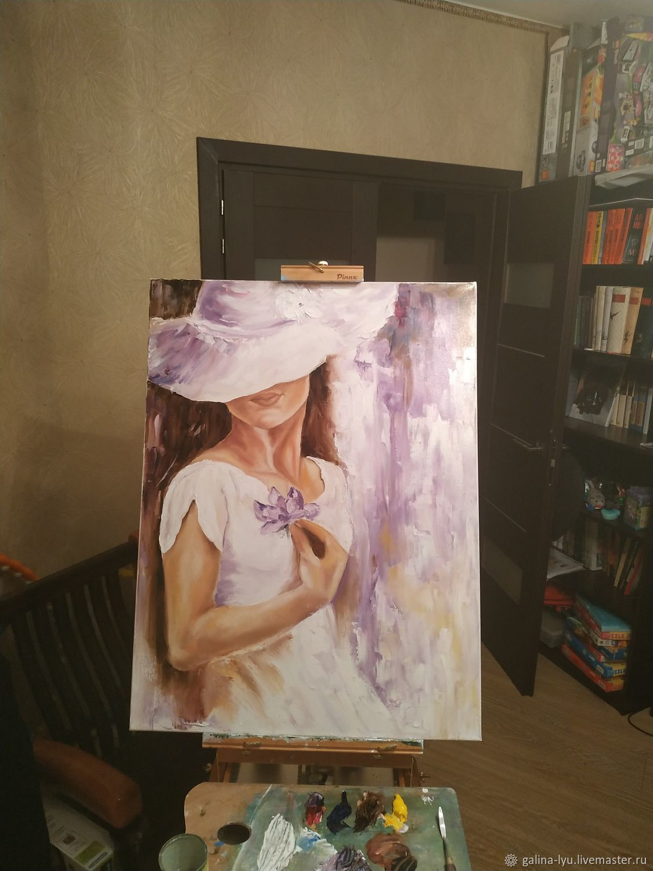 Девушка в белом, Картины, Москва,  Фото №1