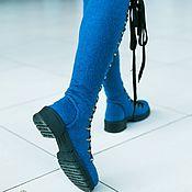 Обувь ручной работы handmade. Livemaster - original item Boots: felted Azul. Handmade.