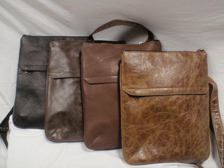 купить кожаную сумку планшет мужскую в москве