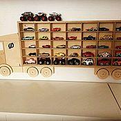 Куклы и игрушки ручной работы. Ярмарка Мастеров - ручная работа Полка-органайзер для машинок. Handmade.