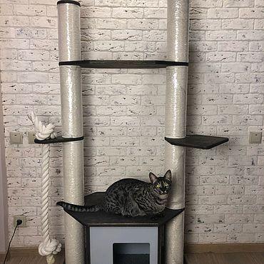 Товары для питомцев ручной работы. Ярмарка Мастеров - ручная работа Комплекс для кошек. Handmade.