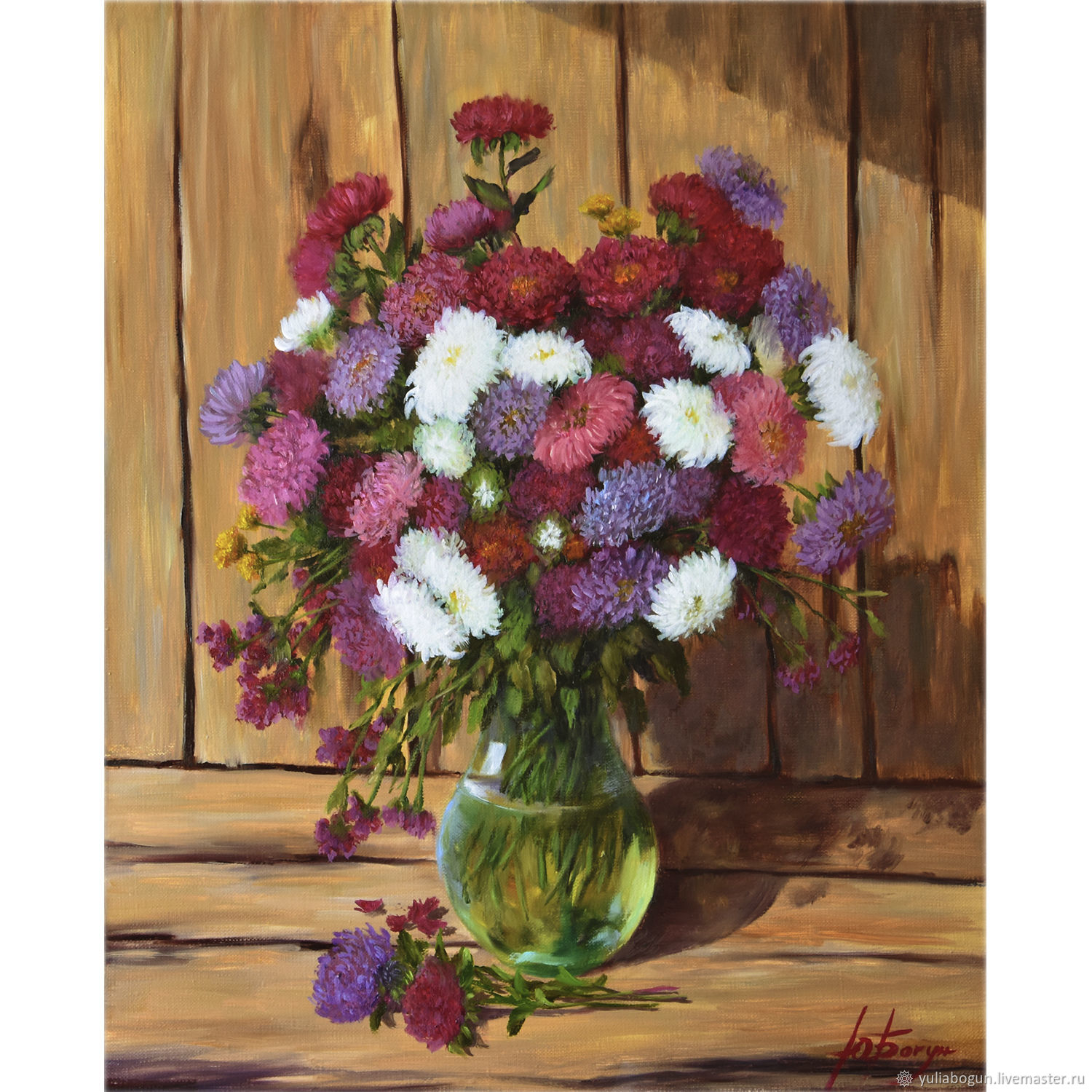 Oil painting 'Asters', Pictures, Belorechensk,  Фото №1