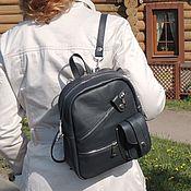 Сумки и аксессуары handmade. Livemaster - original item Backpack leather gray womens Silva Mod SR38-741. Handmade.