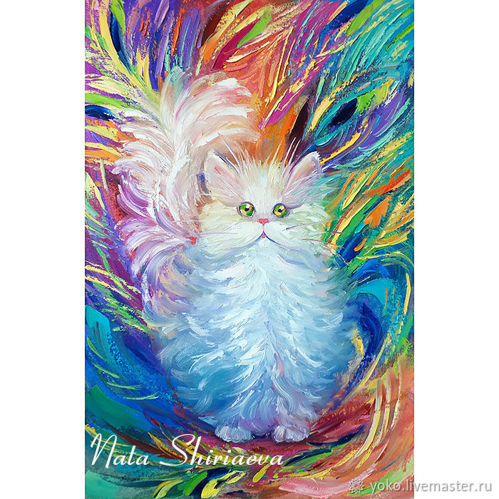 The painting 'a cat named Peacock' oil on canvas cat and the cat, Pictures, Voronezh,  Фото №1