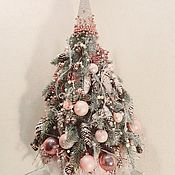 Деревья ручной работы. Ярмарка Мастеров - ручная работа Деревья: новогодняя ель нежность. Handmade.