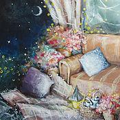 Картины и панно ручной работы. Ярмарка Мастеров - ручная работа Ночной пикник. Handmade.