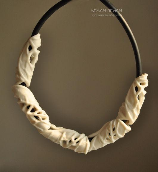 """Для украшений ручной работы. Ярмарка Мастеров - ручная работа. Купить Фарфоровые трубочки из серии """"Листья """" - 1. Handmade."""