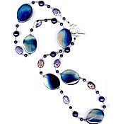 Украшения handmade. Livemaster - original item decoration with natural stones blue agate lapis variscite. Handmade.