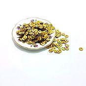 Бисер ручной работы. Ярмарка Мастеров - ручная работа Пайетки чаша 5мм Китай золотые. Handmade.