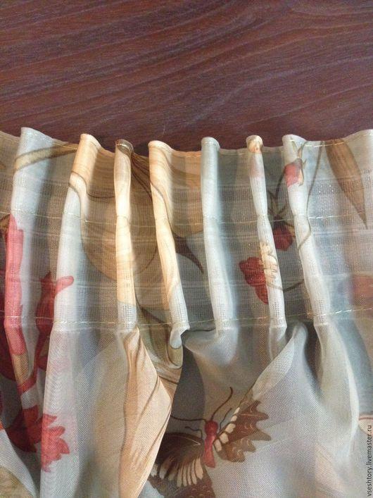 Шитье ручной работы. Ярмарка Мастеров - ручная работа. Купить Тесьма монтажная для штор 6,5 см. Handmade. Белый
