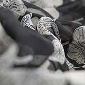 """Материалы для творчества ручной работы. Ярмарка Мастеров - ручная работа Шелк-шифон """"Белые незабудки"""". Цена за отрез. Handmade."""