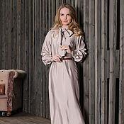Одежда ручной работы. Ярмарка Мастеров - ручная работа Платье из шелка с бантом. Handmade.