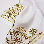 Подарки к праздникам handmade. Livemaster - original item Track with the volume embroidery