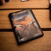 Канцелярские товары handmade. Livemaster - original item Passport cover leather. Replica,, The Creation of Adam,,. Handmade.