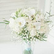 """Свадебный салон ручной работы. Ярмарка Мастеров - ручная работа Букет невесты из живых цветов в морском стиле """"Воздушный белый"""". Handmade."""