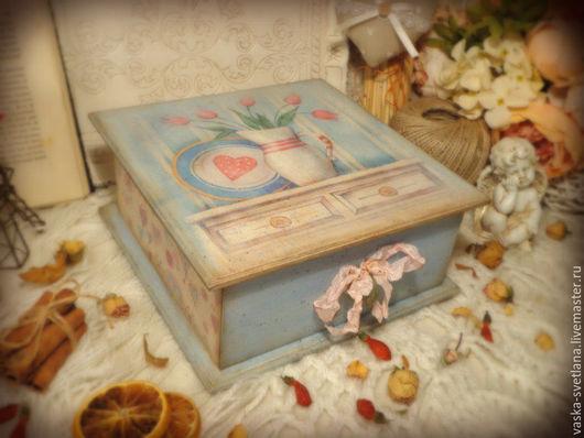 """Корзины, коробы ручной работы. Ярмарка Мастеров - ручная работа. Купить Короб с ящиком """"Jolie Maison"""". Handmade. Короб"""