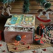 """Подарки к праздникам ручной работы. Ярмарка Мастеров - ручная работа -20%""""Магазин игрушек..""""-набор елочных игрушек. Handmade."""