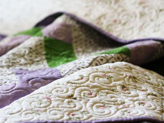 """Текстиль, ковры ручной работы. Ярмарка Мастеров - ручная работа. Купить Лоскутное покрывало """"Прованс"""". Handmade. Бледно-сиреневый, одеяло"""