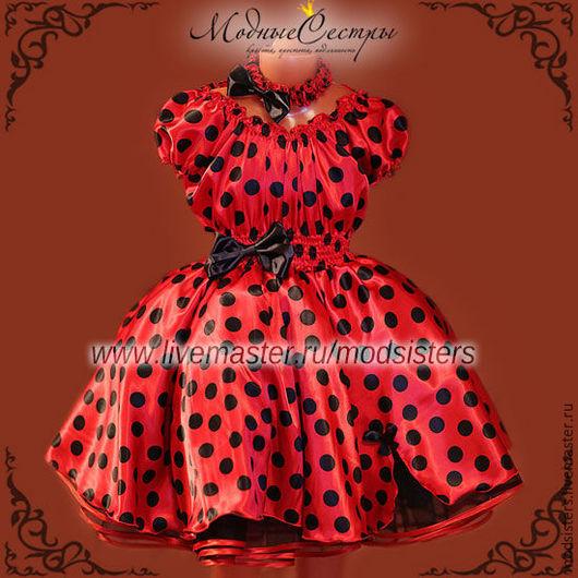 """Одежда для девочек, ручной работы. Ярмарка Мастеров - ручная работа. Купить Платье """"Красное черным горохом"""" Арт.286. Handmade."""