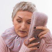 Аксессуары handmade. Livemaster - original item Mink powder clutch Platkoff with Italian stole. Handmade.